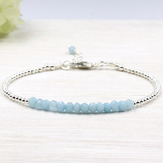mystic blue stones bracelet and 925 Silver beads