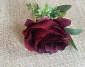 Burgundy silk wedding but...