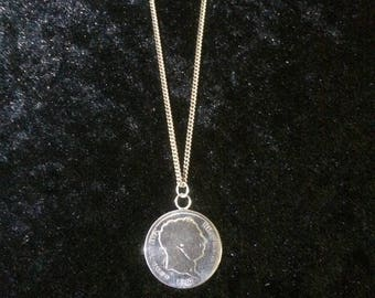 1817 One Shilling Coin Necklace
