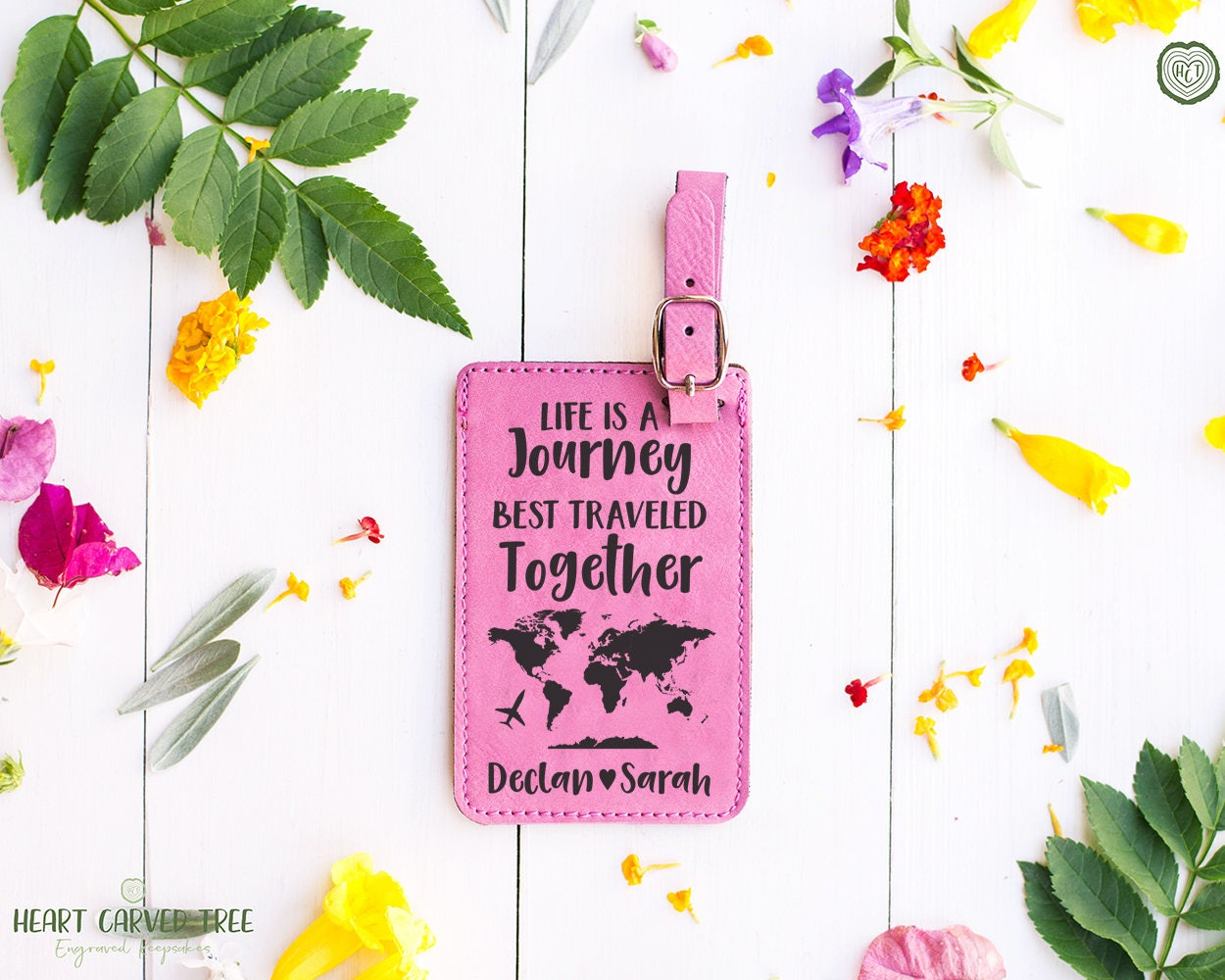 Life is a journey luggage tag personalized gifts wedding gift life is a journey luggage tag personalized gifts wedding gift world map luggage tag couples gift bride and groom first travel lt21 gumiabroncs Gallery