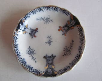 Rare Diana Blue Transferware Pats BUTTER PATS Antique Butter Pats Blue Transferware plate J G Meakin England Hanley Diana Pattern Blue White