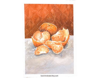 Tangerine – Original Watercolour