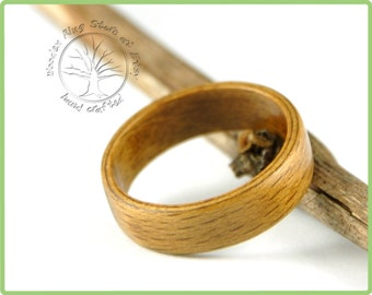 Beech wooden ring, wooden wedding band. Engagement ring, wedding ring, anniversary gift, ring for any other special occasion. Wooden jewelry