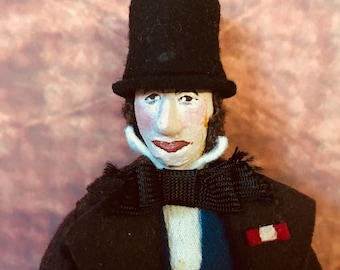 Vintage Cloth Hand Painted Doctor Doolittle Doll