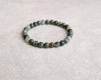 Tranquility Green Jasper Bracelet - Yoga Bracelet - Energy Bracelet - Spiritual Jewelry - Item # 301