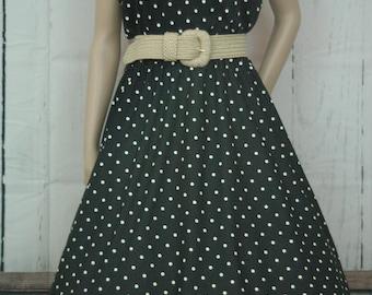 Vintage 1960s Polka Dot Pin Up Sundress
