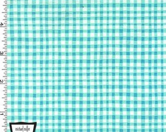 Aqua Gingham Play from Michael Miller Fabrics - Cotton Fabric