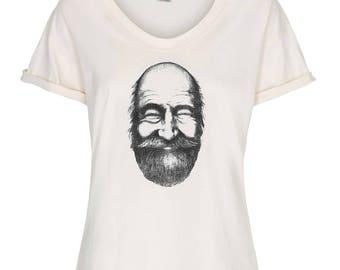 Regular Length - Finn Tee - Organic Cotton T-shirt for Women with Print