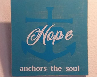 Hope Anchors the Soul - Wall Decor - Home Decor - Home & Living - Wall Hangings - Signs