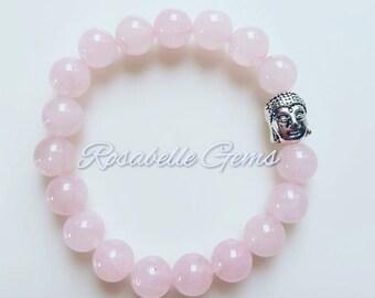 Heart Chakra, Rose Quartz, Bracelet, Rose Quartz Bracelet, Love Stone, Gemstone Bracelet, Valentines Gift, Gift For Her, Pink Bracelet, Love