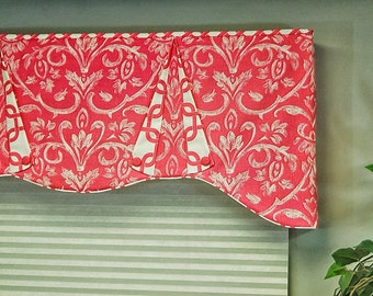 "Custom Window Valance CASEY Hidden Rod Pocket® Valance, fits 61"" - 80"" window, made using your fabrics, my LABOR and lining"