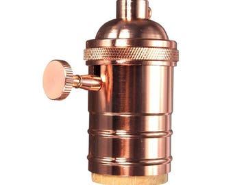 Copper Lamp Socket - Cast Brass - Lamp Socket - Premium Quality