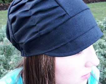 New Black Ruched Style Hat