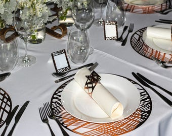 Copper Placemats, Wedding Placemats, Round Copper Placemats - Prices decrease for larger amounts purchased