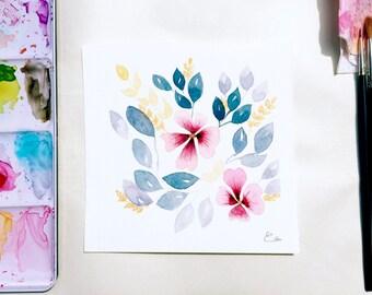 Floral watercolor | Original painting