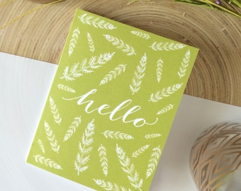 Hello Card | greeting card – hello notecard – just because card – hello friend – friendship card – nature card – hand drawn card