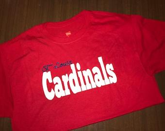 Cardinals Glitter Tee