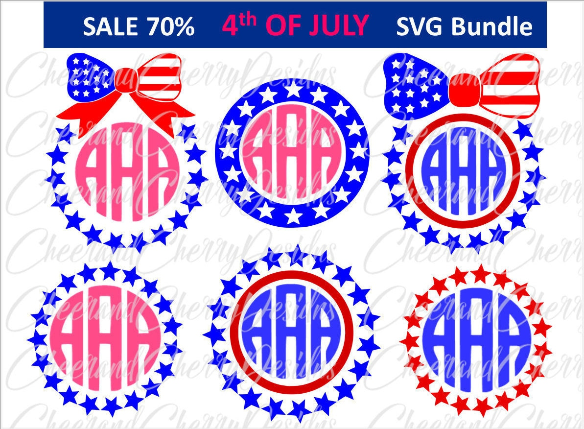 Bow monogram svg usa monogram svg stars monogram svg 4th of july svg this is a digital file buycottarizona Choice Image