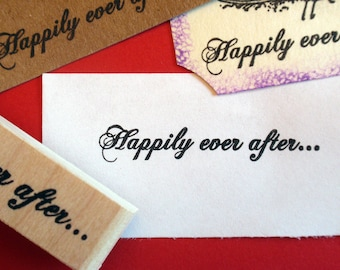 Happily Ever After Rubber Stamp - Handmade rubber stamp by BlossomStamps