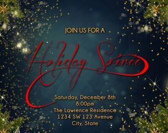 christmas party invitation christmas dinner invitation