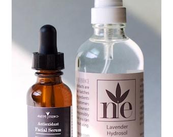 Facial Serum - Hydrosol - Skincare Set - Face Oil - Natural Toner - All Natural Skin Care - Face Care - Organic Skin Care - Organic Skincare