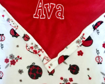 Personalized Embroidered Plush Baby Blanket