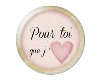 25mm cabochon glass Valentine's day love love romantic 18