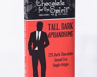72% Dark Chocolate Tall, Dark & Handsome Bar