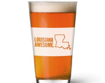 Louisiana Awesome Pint Glass
