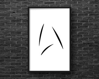 "Star Trek Beyond inspired ""Kirk's Mug"" Starfleet Insignia digital art print 11x17"