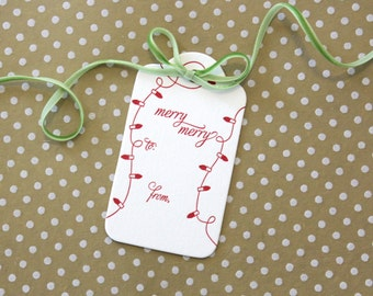 Merry Merry - Set of 3 Letterpress Gift Tags