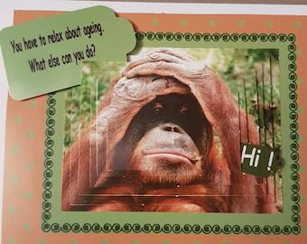 Animal image birthday card