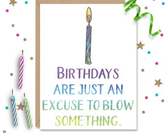 Funny Birthday Card, Sexy Birthday, Naughty Card, Card for Him, Gay Birthday Card, Card for Boyfriend, Card for Husband, Birthday Gift