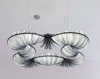 Hanging lamp Rotini Pendant Lamp Aqua