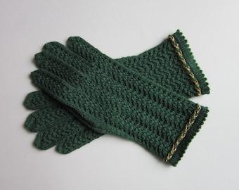 Wool Gloves Knitted Gloves Gloves Fingerless  Winter Gloves Womens Gloves Green Wool Gloves Knit Lace Gloves Gloves Wool Fingerless Gloves