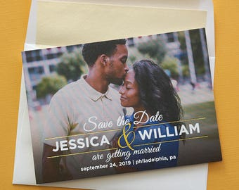 Perfect Together Save The Date Cards - Foil ampersand, Photo card, engagement, Wedding Announcements - AA6604
