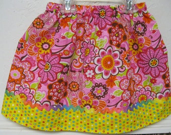Clearance Flowered Skirt made With Tutti Frutti Poly/Cotton blend