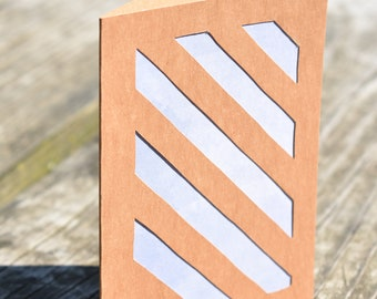 Diagonal Stripes Card