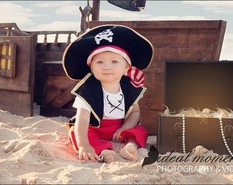 Pirates costume - Pirate Birthday Party - Cruise Pirate - Pirate Outfit - Pirate Night - Pirate - Pirate Club - Toddler Costume - Boy Pirate