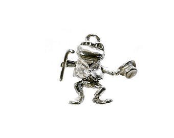 Sterling Silver Movable Toad From Toad Hall Charm For Bracelets