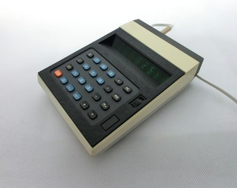 Vintage calculator from Europe 70s, Electric Desk Calculator, Business Calculator, Unique gift