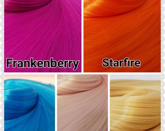 5 color Variety Pack High Temp Premium Nylon Doll Hair for Rerooting Dolls and Rehairing My Little Pony Int Ship