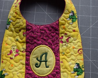 Personalized Quilted Baby Bibs
