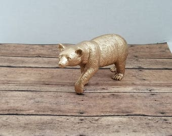 Bear Cake Topper, Bear Baby Shower Table Decor, Grizzly Bear Theme Party Cake Topper, Wedding Bear Cake Topper