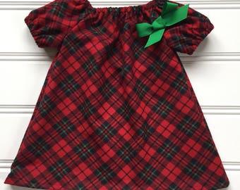 Girl Winter Dress, Flannel Plaid Dress, Girl Flannel Dress, Girl Christmas Dress, Baby Christmas Dress, Girl Holiday Dress