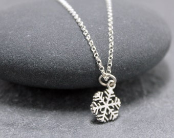 LET IT SNOW Necklace,Sterling Silver,Christmas,Snowflake
