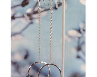 Sterling Silver Long Chain Earrings