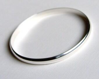 Sterling Silver Bangle Heavy Bracelet Solid Sterling Silver