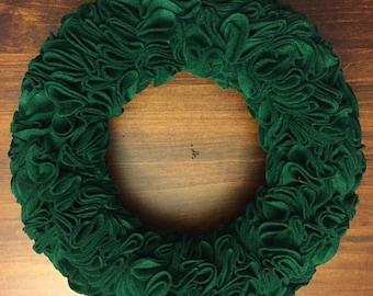 Green Felt Wreath