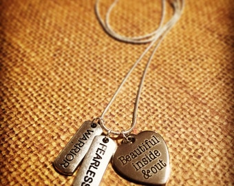 Beautiful Inside and Out Necklace | Self Confidence | Self Love | Warrior | Fearless |